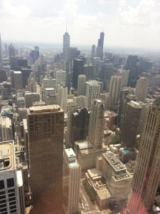 A view of the Chicago loop, looking south from the 95th floor of the John Hancock building. July 18, 2013 © David K Staub